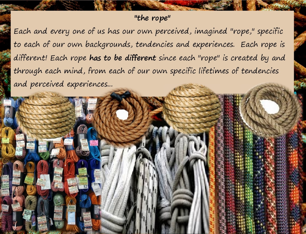 Open the hand of thought many different ropes