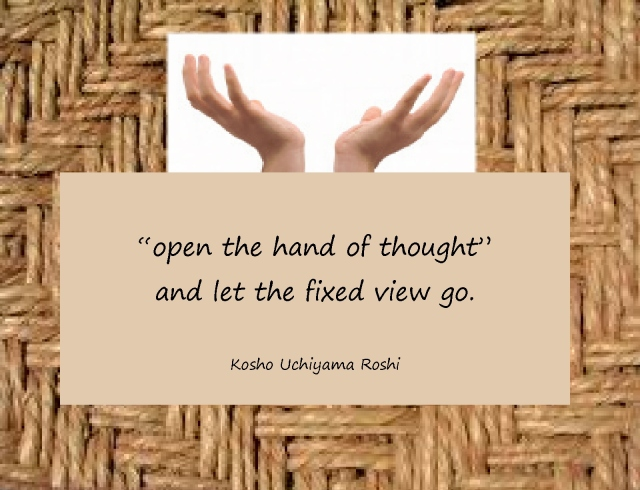 Open the hand of thought page 0 front