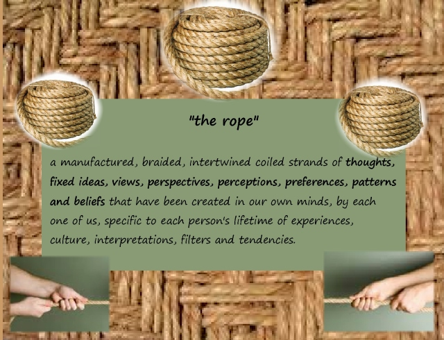 Open the hand of thought...page 4 the rope explanation