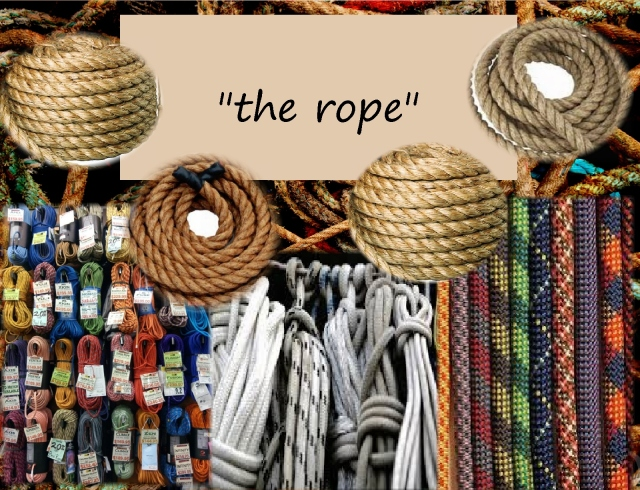 Open the hand of thought the rope