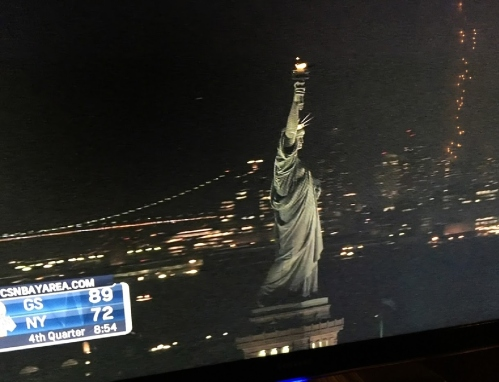 never ever statue of liberty on tv