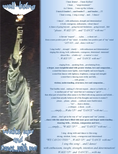 Dance with me Lady Liberty wake up and dance with me