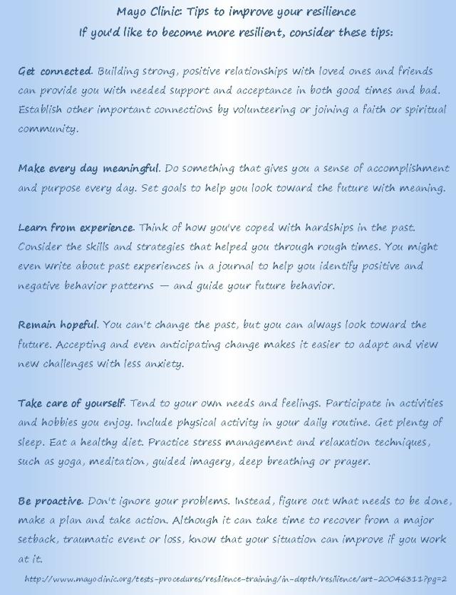 OLLI Mayo Resilience list explan