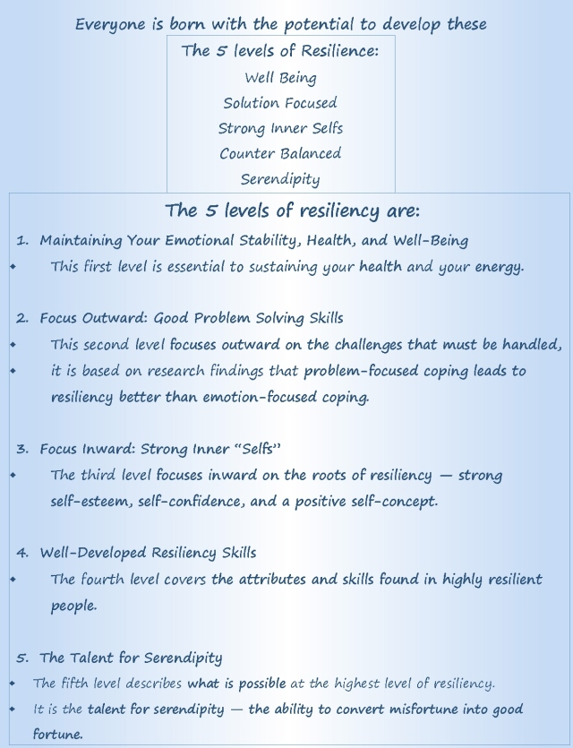Siebert resilience 5 levels and