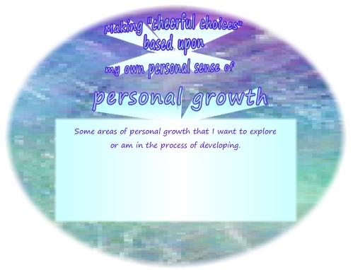 Cheerful choices personal growth