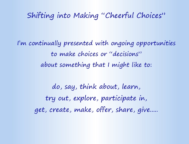 Cheerful choices text part 1