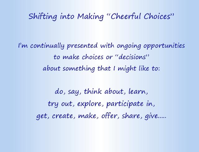 Cheerful choices text part 1