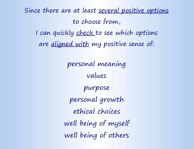 Cheerful choices text part 2