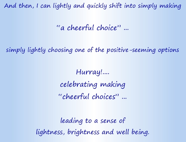 Cheerful choices text part 3