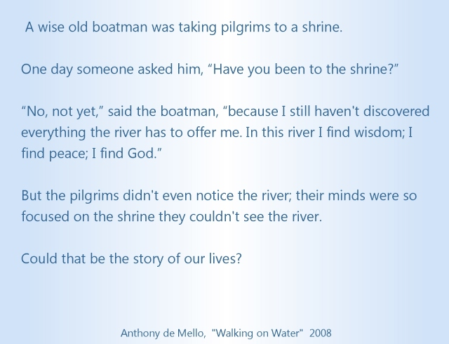 Boatman Anthony deMello the shrine